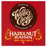 Willies Cacao Dark Chocolate with Hazelnut and Raisin 50g