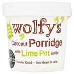 Wolfys Coconut Porridge Pot with Lime 110g