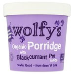 Wolfys Organic Porridge Pot with Blackcurrant 90g