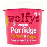 Wolfys Vegan Porridge Pot with Rhubarb and Ginger 84g