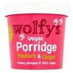 Wolfys Vegan Porridge Pot with Rhubarb and Ginger 84g
