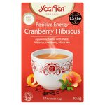 Yogi Tea Positive Energy Cranberry Hibiscus Organic 17 Teabags